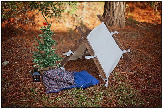 Photography Prop Set Newborn Baby Tent, Sleeping Bag, and Lantern