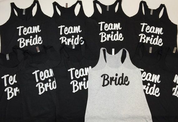 10 Bridal Party Shirts. Bridesmaid Tank Tops. by WifeyShop on Etsy