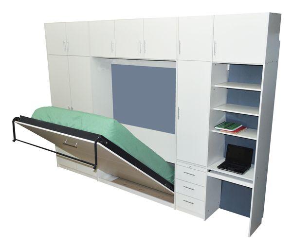 Placard con cama rebatible plegable 2 plazas con escritorio cajoneras…