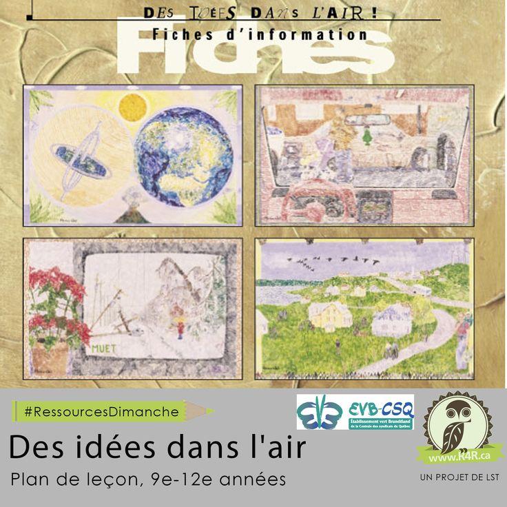 Cette semaine, pour #RessourcesDimanche de #R4R.ca, «Des idées dans l'air.» Cette trousse éducative repose sur une approche à la fois artistique, éthique et scientifique des changements climatiques.
