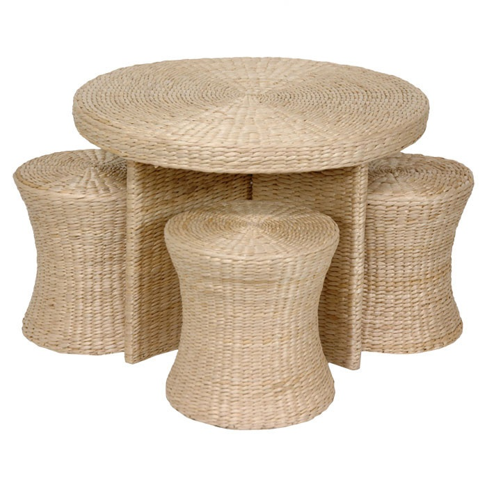 Colombiers Coffee Table & Stool Set