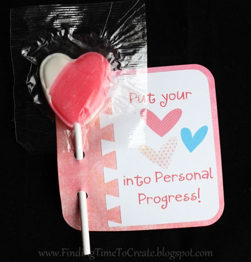 Put Your Heart Into_sucker holder by krafting kelly, via Flickr                                                                                                                                                                                 More