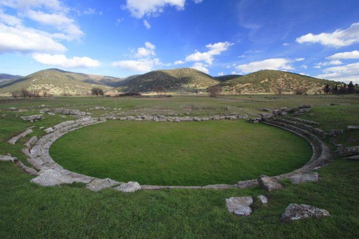 Archaeological Site of Mantineia -theater - Arcadia Αρχαιολογικός χώρος Μαντίνειας - θέατρο -Αρκαδία