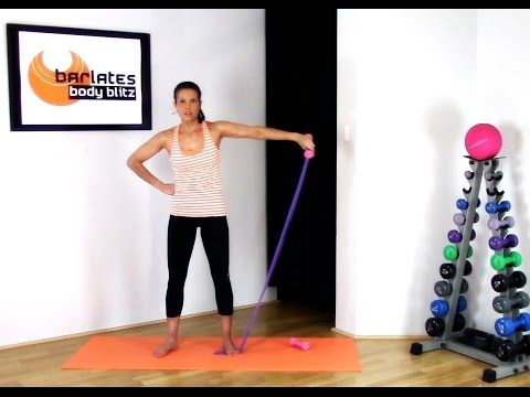 FREE Resistance Band Arms Workout - Upper Body band and weights BARLATES BODY BLITZ - YouTube