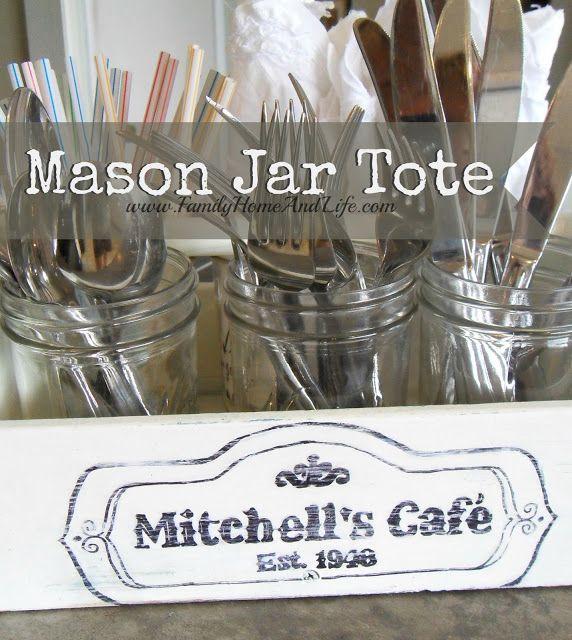 Family Home and Life: Mason Jar Tote