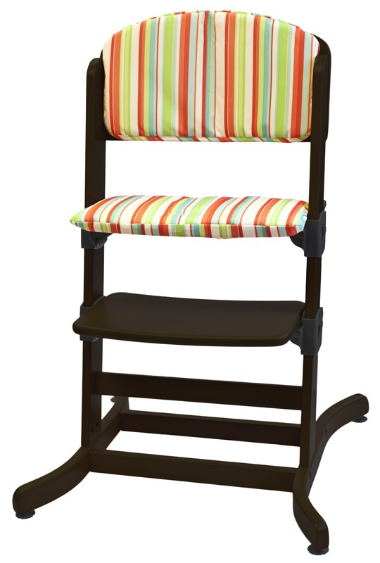 The guzzie+Guss comfort pad, shown in Taffy Stripe, is easily removable, machine washable and long lasting. add this to your G+G 212 highchair to protect the finish and add comfort. Material: 100% Polyester