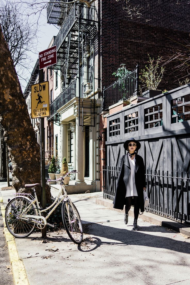 Kuho Coat, Lemaire x Uniqlo Dress, Isabel Marant Shoes, Janessa Leone Hat