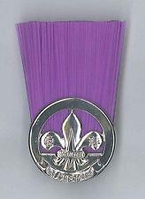 Extinto década de 1990 Hong Kong Scouts-Scout comisario Rank insignia metálica…