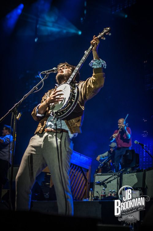 Winston Marshall of Mumford & Sons performs at San Manuel…