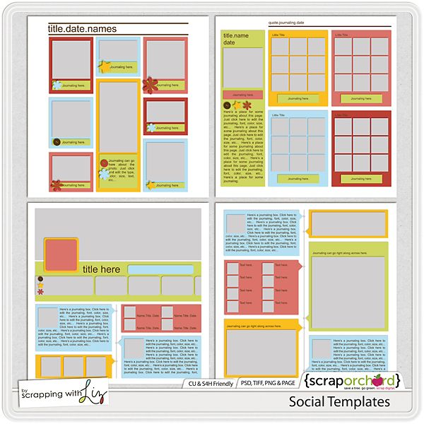 Social Templates by Scrapping with Liz
