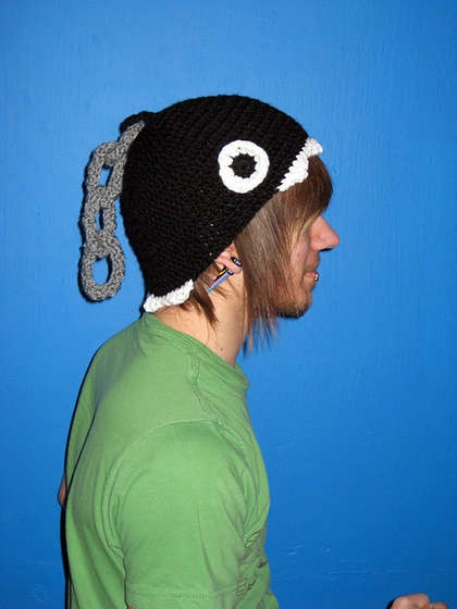 Chain Chomp Hat From Super Mario Bro. I <3 this so much