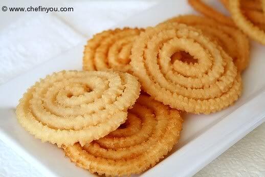 Murukku (Chakli) oil fried substitute for other flour http://chefinyou.com/2009/09/murukku-chakli-recipe/