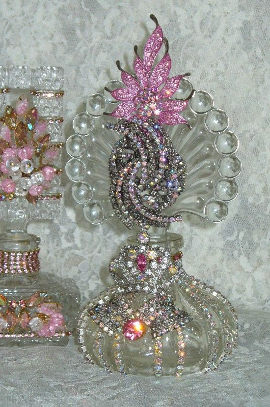 Antique Bejeweled Perfume Bottle 16 By Debbie Del Rosario-Antique, Perfume, Weiss