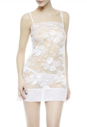 Lingerie branca e sexy para Noiva - La perla 2014 #casarcomgosto