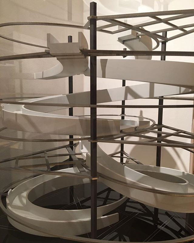 #spiral #model inside the Bloomberg European Headquarters that are currently being built in the City of London @vamuseum : @riba