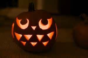 Cute pumpkin carving idea.   Ghosts