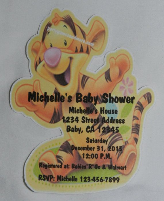 Unique Personalized Baby Shower Winnie the by PARTYGAMESANDMORE, $12.99