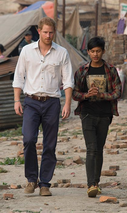 Prince Harry extends his trip in Nepal to help rebuild a school
