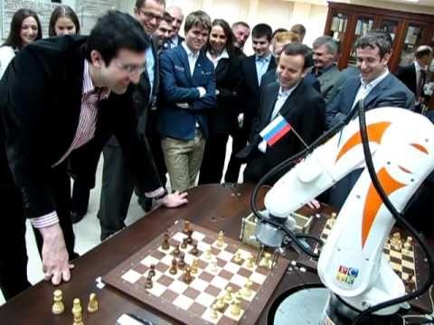 Chess Robot vs Vladimir Kramnik (Chess World Champion XIV) - YouTube