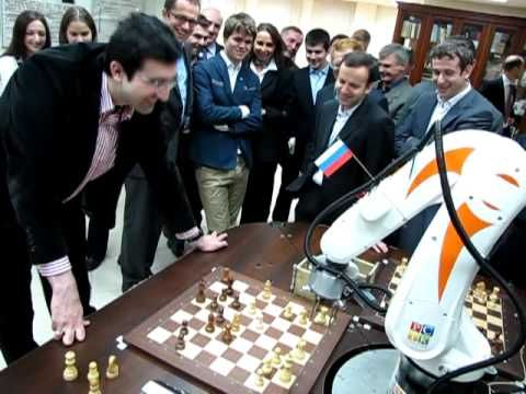 Chess Robot vs Vladimir Kramnik (Chess World Champion XIV) - YouTube