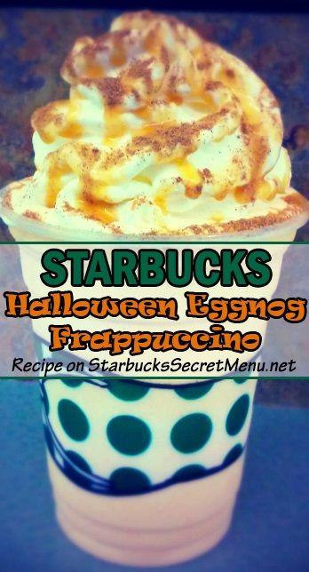Try our new Starbucks Halloween Eggnog Frappuccino! #StarbucksSecretMenu