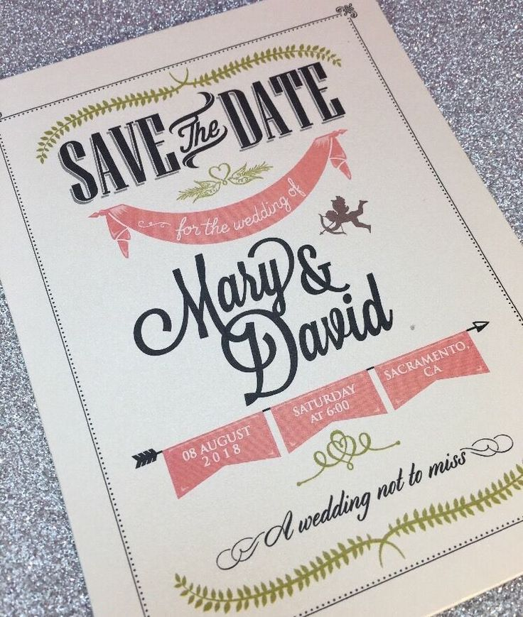 20 Cupid Vintage Inspired Save the Date Cards with Envelopes #Unbranded