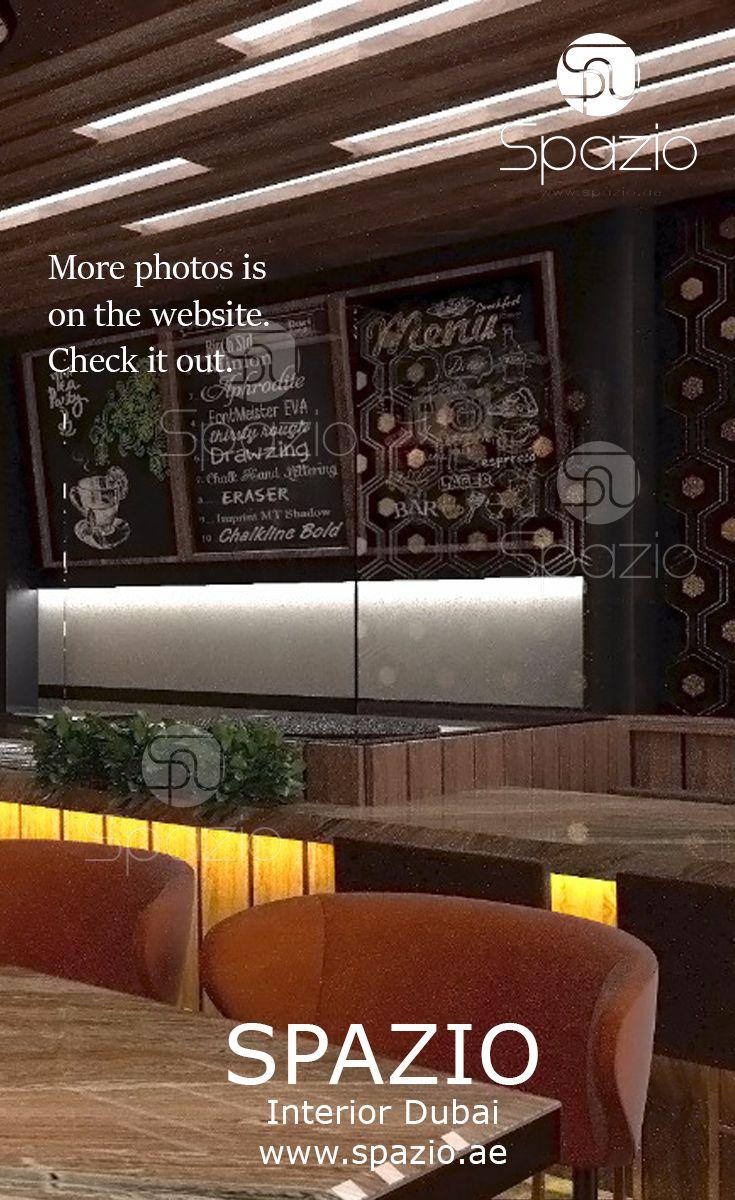 Cafe interior design with bright decor and