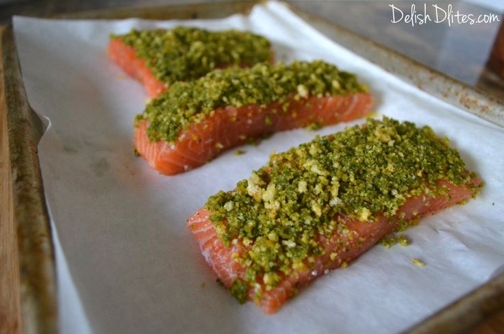 So easy, and so elegant, pesto crusted salmon is perfect for a weeknight dinner, or for fancy dinner guests.