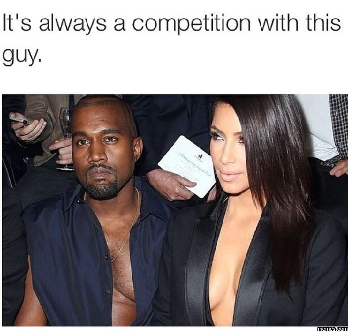 It's always a competition...