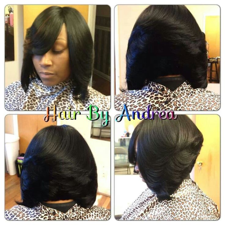 Quick Weave Bob Hair Nails Make