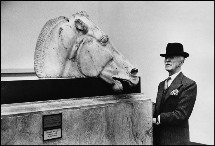 Marc Riboud GB. ENGLAND. London. 1954. British Museum.