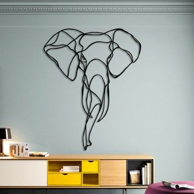 Design Animal Sign Elephant Head Trophy Drawing Wall Art by Antoine Tes-Ted for Hu2 Design and Born Free