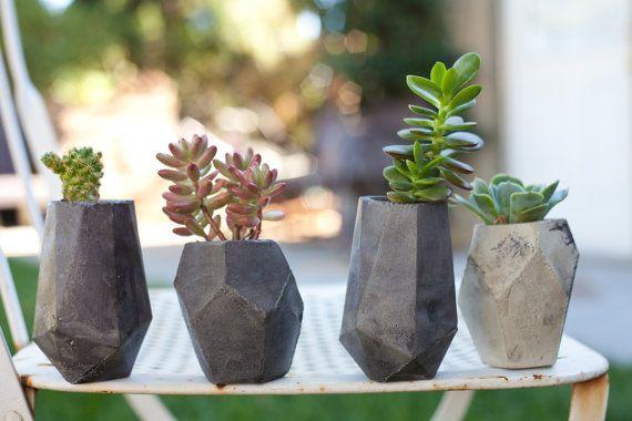 Geometric Concrete Succulent Cacti Planter by ConcreteGeometric, $100.00