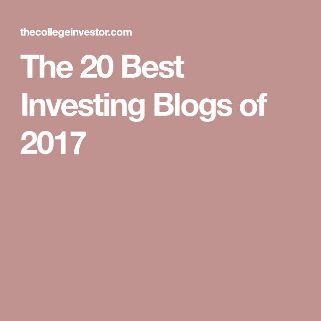 The 20 Best Investing Blogs of 2017