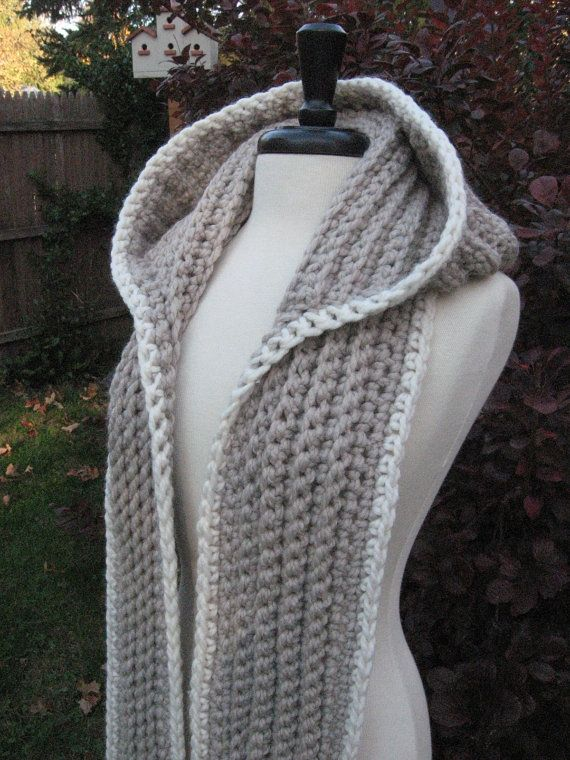 Easy Knitted Hooded Scarf Pattern Free : Best 25+ Free crochet scarf patterns ideas on Pinterest Crochet infinity sc...