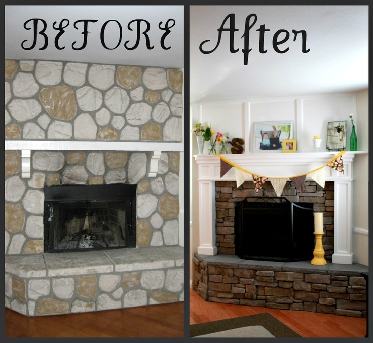 Fireplace mantle and Fireplace remodel