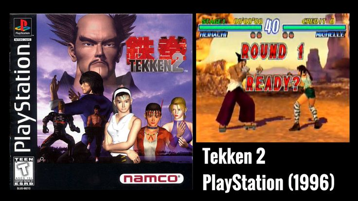 Tekken 2 is a fighting game, the second installment in the #Tekken series. It was released in arcades in August 1995, and later for the #PlayStation in 1996.
