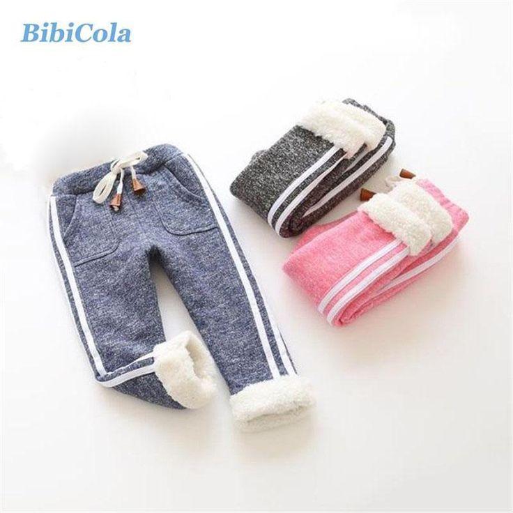 BibiCola Winter Children Girls Leggings Kids Winter Pants Boys Thick W