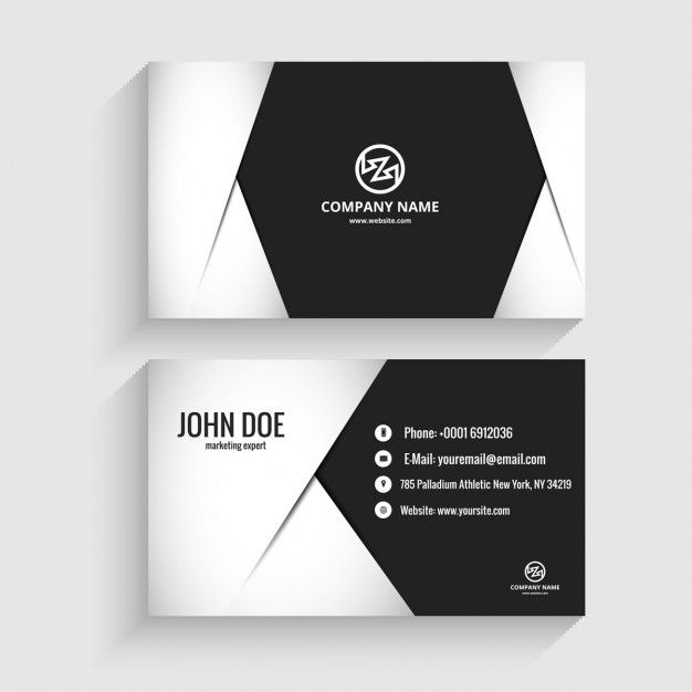 Modern business card in monochromatic style Free Vector