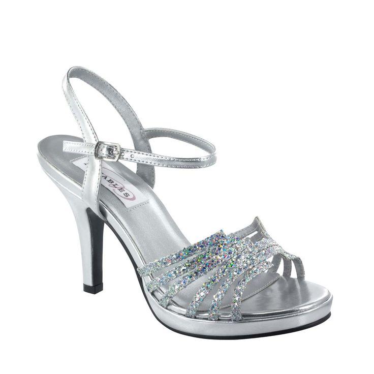 Leah Silver Glitter