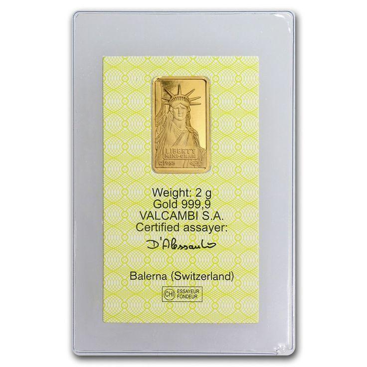 Details About 2 Gram Gold Bar Credit Suisse Statue Of Liberty In Assay Sku 46776 Dengan Gambar