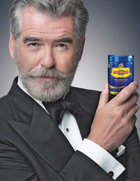 When #PanBahar does a #Bond #PierceBrosnan #gutka  Check it out at bytes.quezx.com
