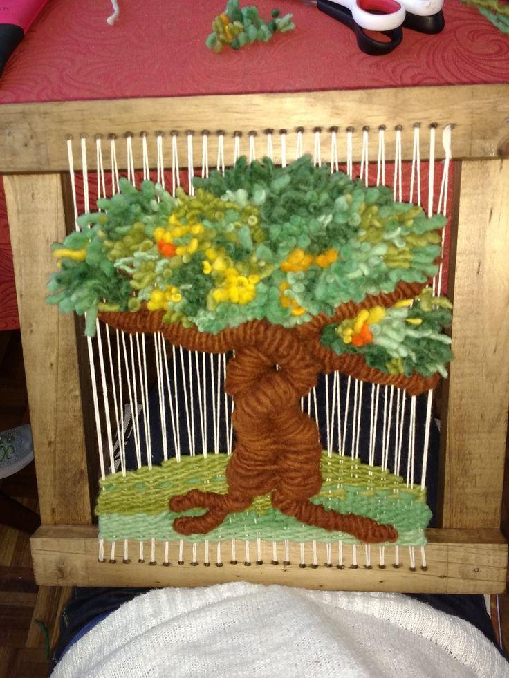 telar decorativo árbol de la vida