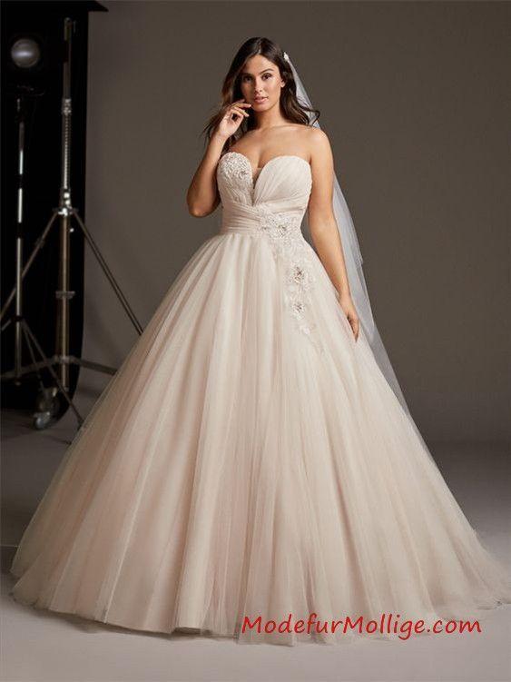 Prinzessin Brautkleider in großen Größen für m…