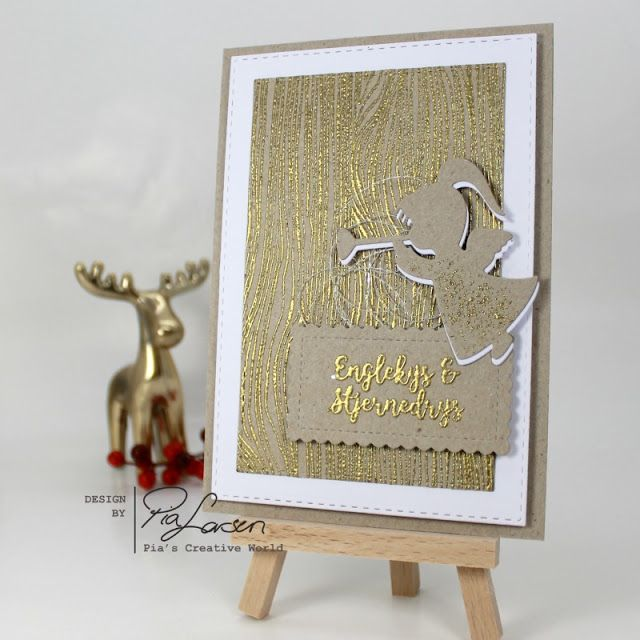 Pia's Creative World: Gold Embossed Angel Kisses