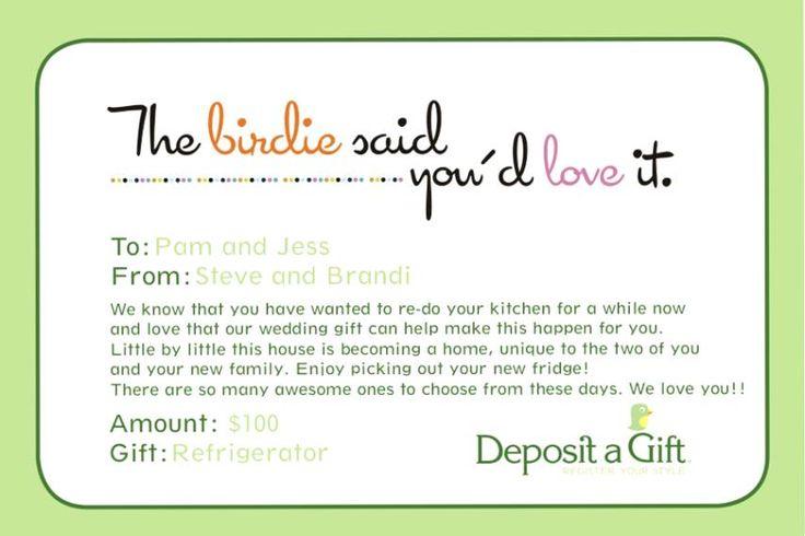 Honeymoon Vouchers As Wedding Gifts: 1000+ Ideas About Thank You Card Wording On Pinterest
