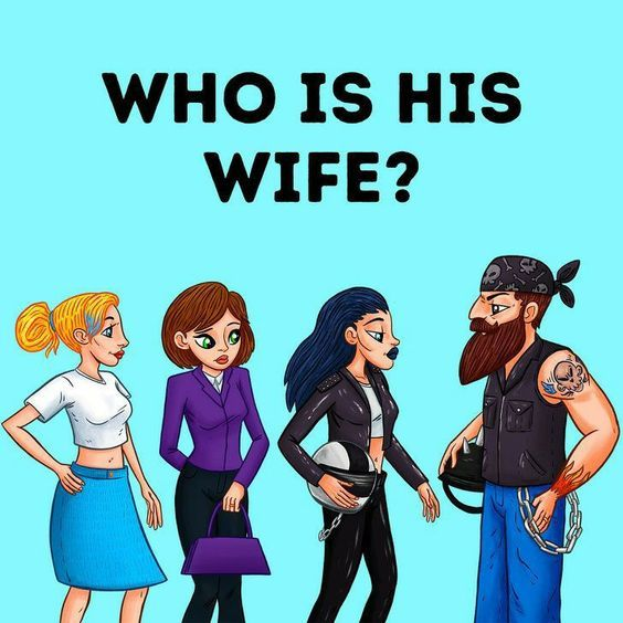 Loli Humor: 50 riddles - who is his wife ?
