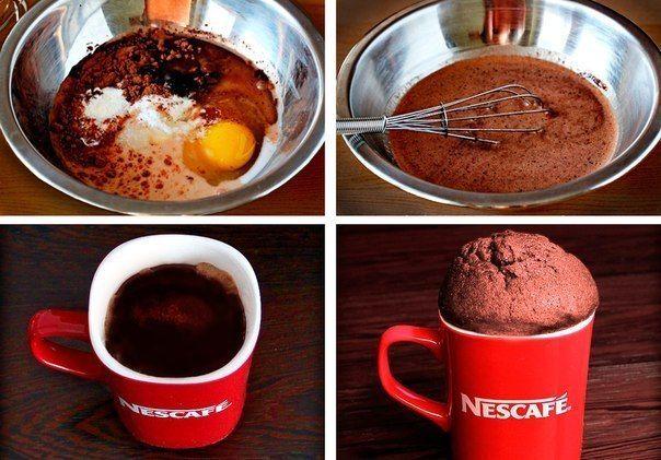 КЕКС В МИКРОВОЛНОВКЕ ЗА 5 МИН вкусный и сытный завтрак от - NESCAFE Ингредиенты: - 1 яйцо - 4 ст.л муки Показать рецепт полностью..»