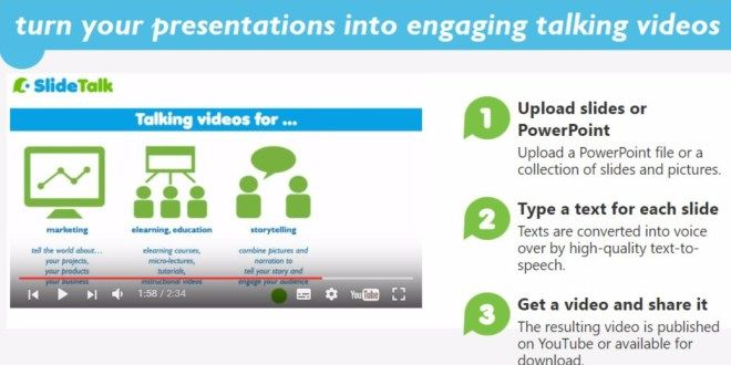 Convert PowerPoint to video with SlideTalk