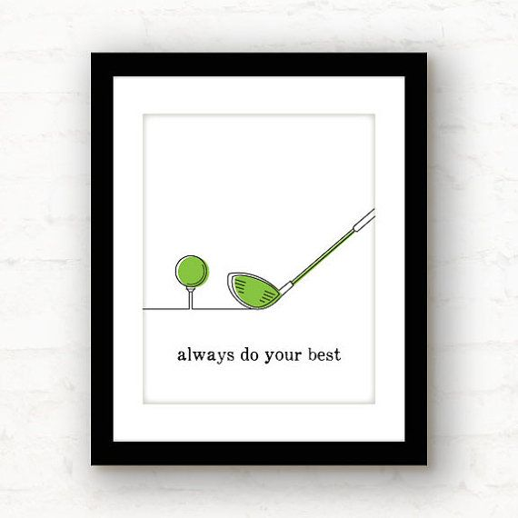 do your best // golf decor // motivational by PaperFinchDesign, $10.00
